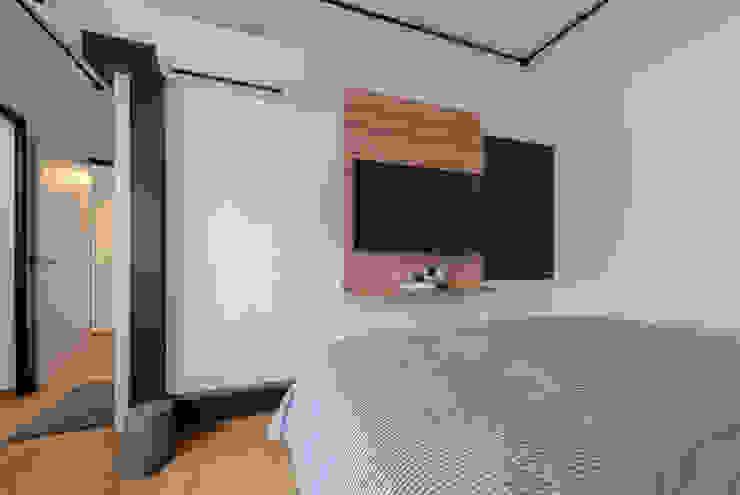 Blue Industrial Chic Industrial style bedroom by Meter Square Pte Ltd Industrial Wood Wood effect