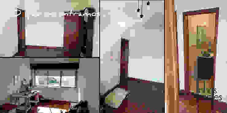 Linhas Simples Rustic style dressing room