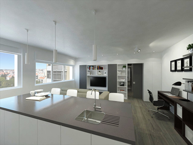 Linhas Simples Built-in kitchens