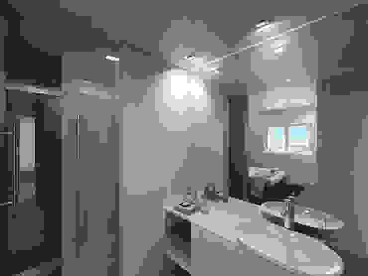 Linhas Simples Rustic style bathroom