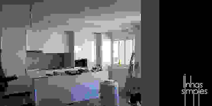 Linhas Simples Rustic style living room