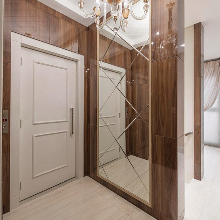 Escritório Silvana Caporal Classic style corridor, hallway and stairs Wood effect