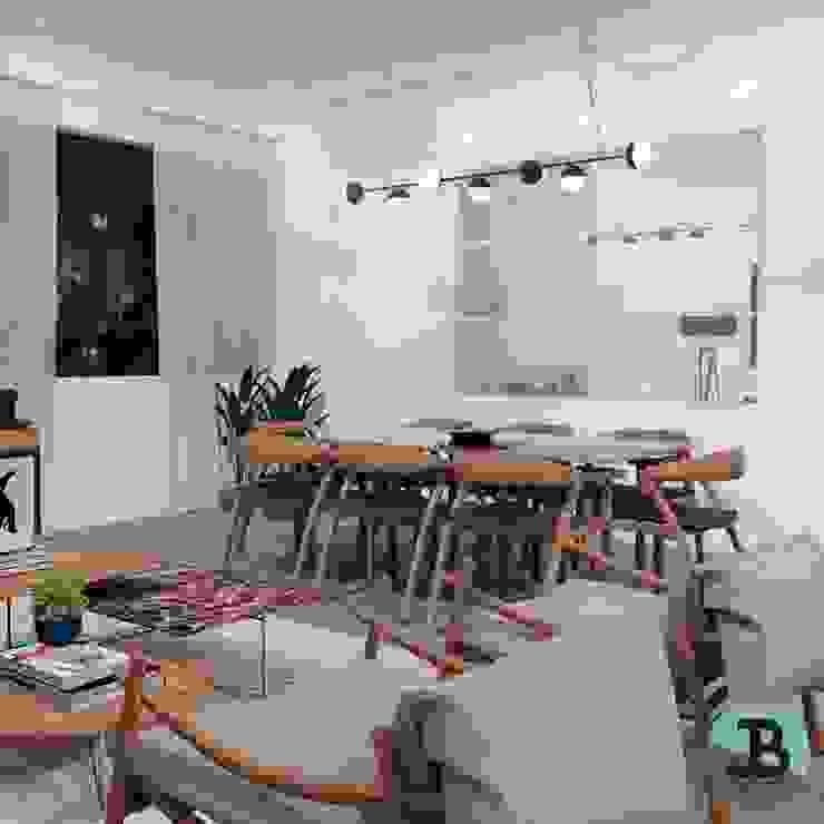 Projetos Apt. C.C Salas de estar minimalistas por JB Design de Interiores Minimalista MDF
