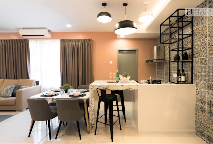 TROPICAL HOMELY Nature Concept Contracts Sdn. Bhd. Modern style kitchen