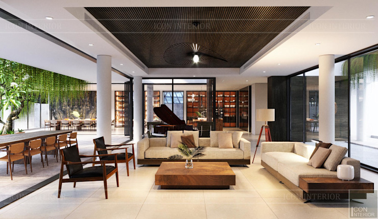 Modern Living Room by Thiết kế nội thất ICONINTERIOR Modern