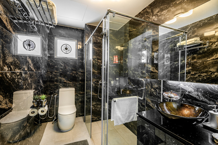 Project : 280 West Wood Ave Asian style bathroom by E modern Interior Design Asian