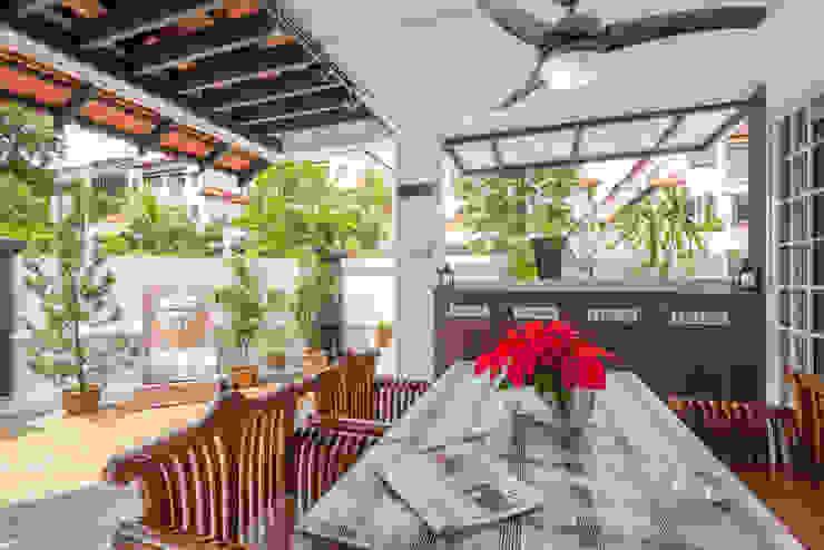 Project : 280 West Wood Ave Asian style balcony, veranda & terrace by E modern Interior Design Asian