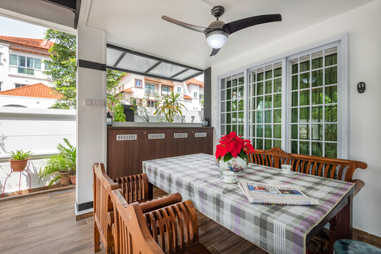 Project : 280 West Wood Ave Classic style balcony, veranda & terrace by E modern Interior Design Classic
