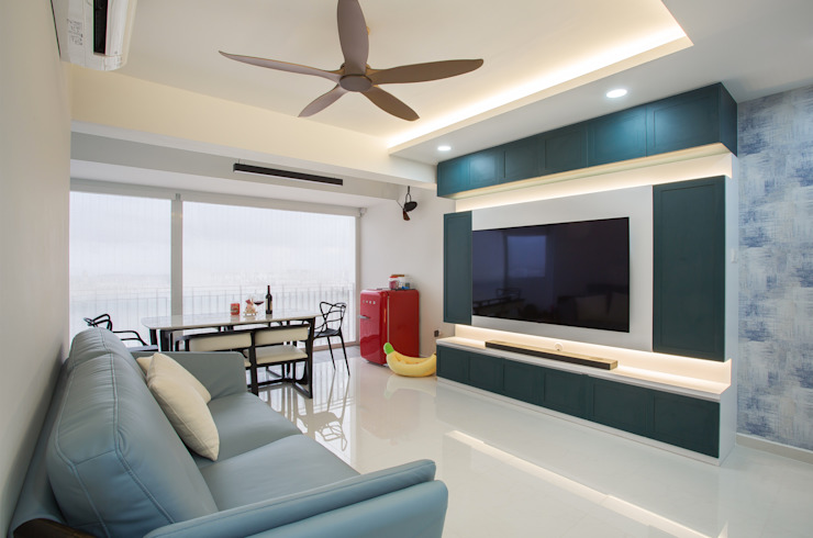 Modern comtemporary Modern living room by Meter Square Pte Ltd Modern Marble