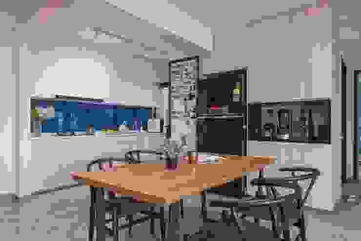 Blue Scandinavian Meter Square Pte Ltd Scandinavian style kitchen Tiles White