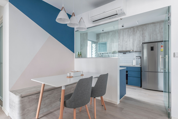 Nordic-Inspired Modern kitchen by Meter Square Pte Ltd Modern Wood Wood effect