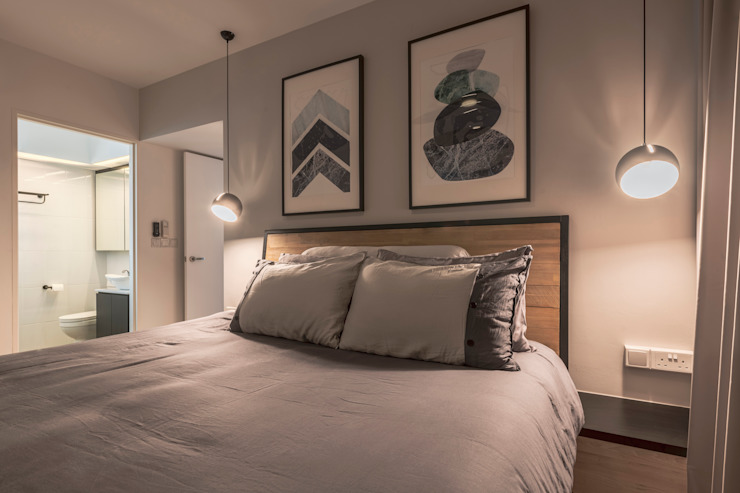 Nordic-Inspired Modern style bedroom by Meter Square Pte Ltd Modern Wood Wood effect