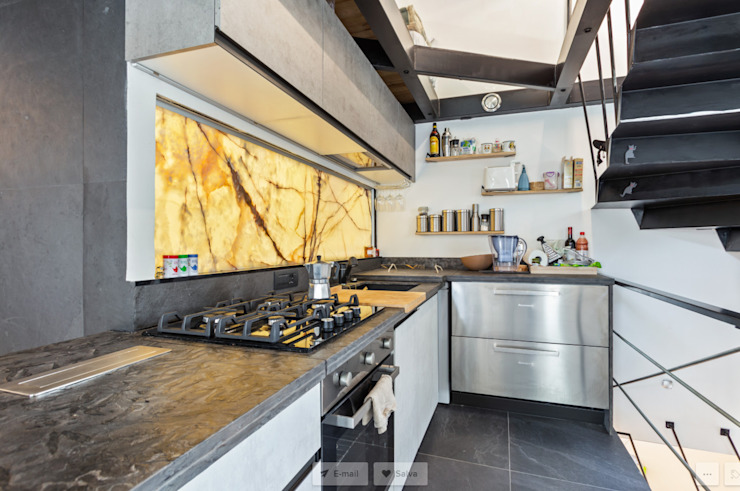 Loft Stile Industriale Cucina in stile industriale di Dr-Z Architects Industrial