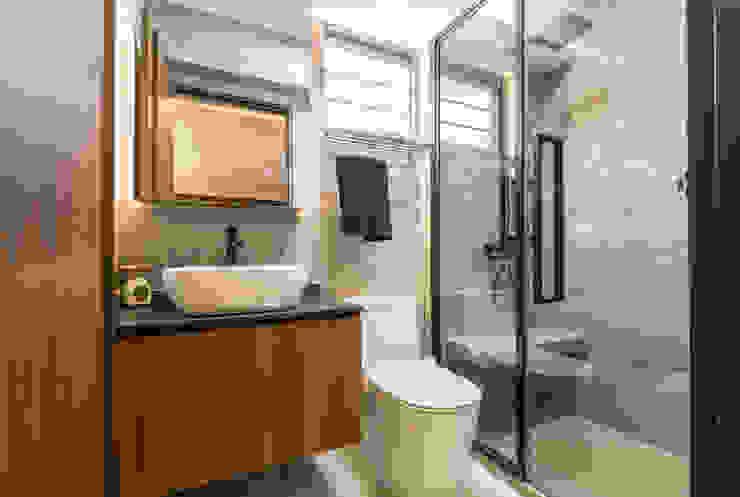 Modern Indochine Meter Square Pte Ltd Modern bathroom Tiles Multicolored