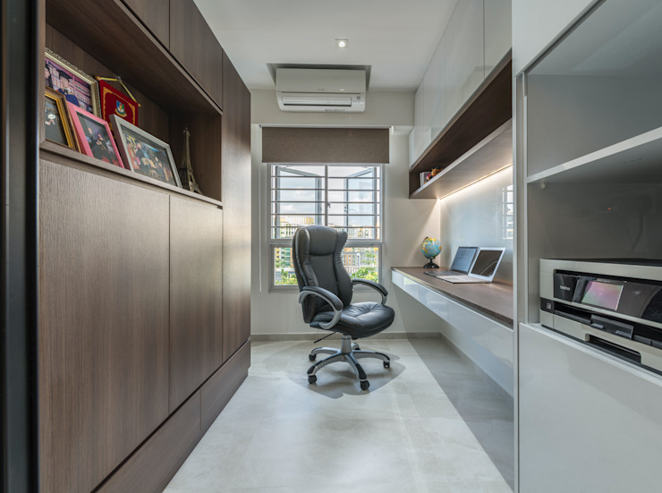 Modern Indochine Modern study/office by Meter Square Pte Ltd Modern Tiles