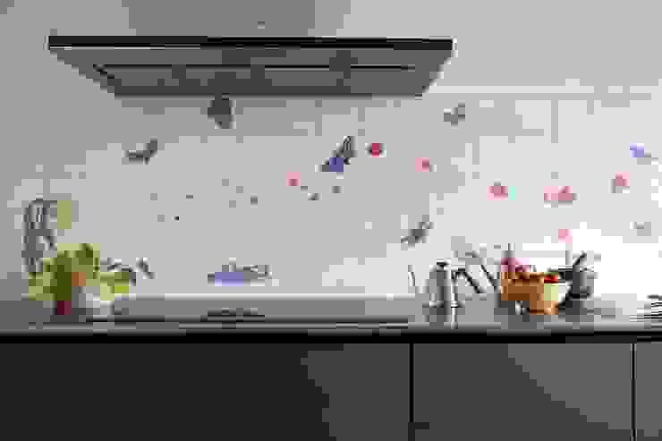 José den Hartog Eclectic style kitchen Tiles Blue