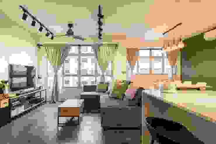 Botanic Chic Modern living room by Meter Square Pte Ltd Modern Concrete