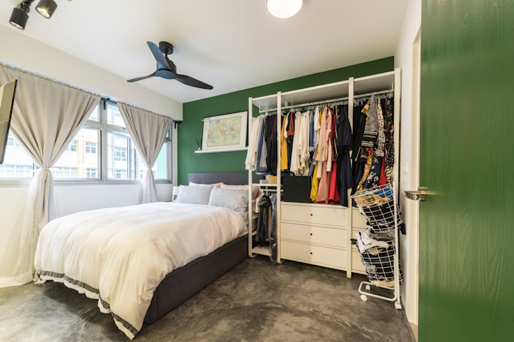 Botanic Chic Modern style bedroom by Meter Square Pte Ltd Modern Concrete