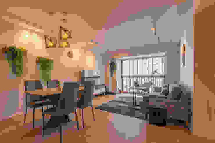 Scandinavian Scandinavian style living room by Meter Square Pte Ltd Scandinavian Wood Wood effect