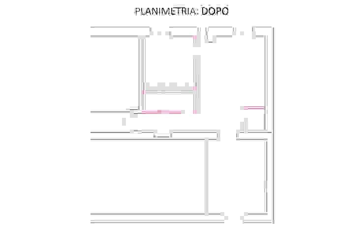 Planimetria: Dopo di GruppoTre Architetti Minimalista