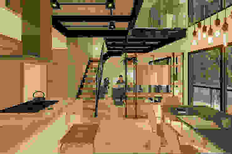 D4-Arquitectos Modern dining room Iron/Steel White