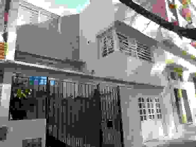Casa Cuba - Fachada 02 D4-Arquitectos Casas unifamiliares Piedra Beige
