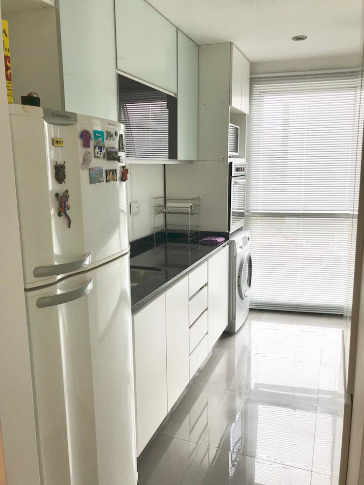 Departamento Bustamante - Cocina 01 de D4-Arquitectos Moderno Vidrio
