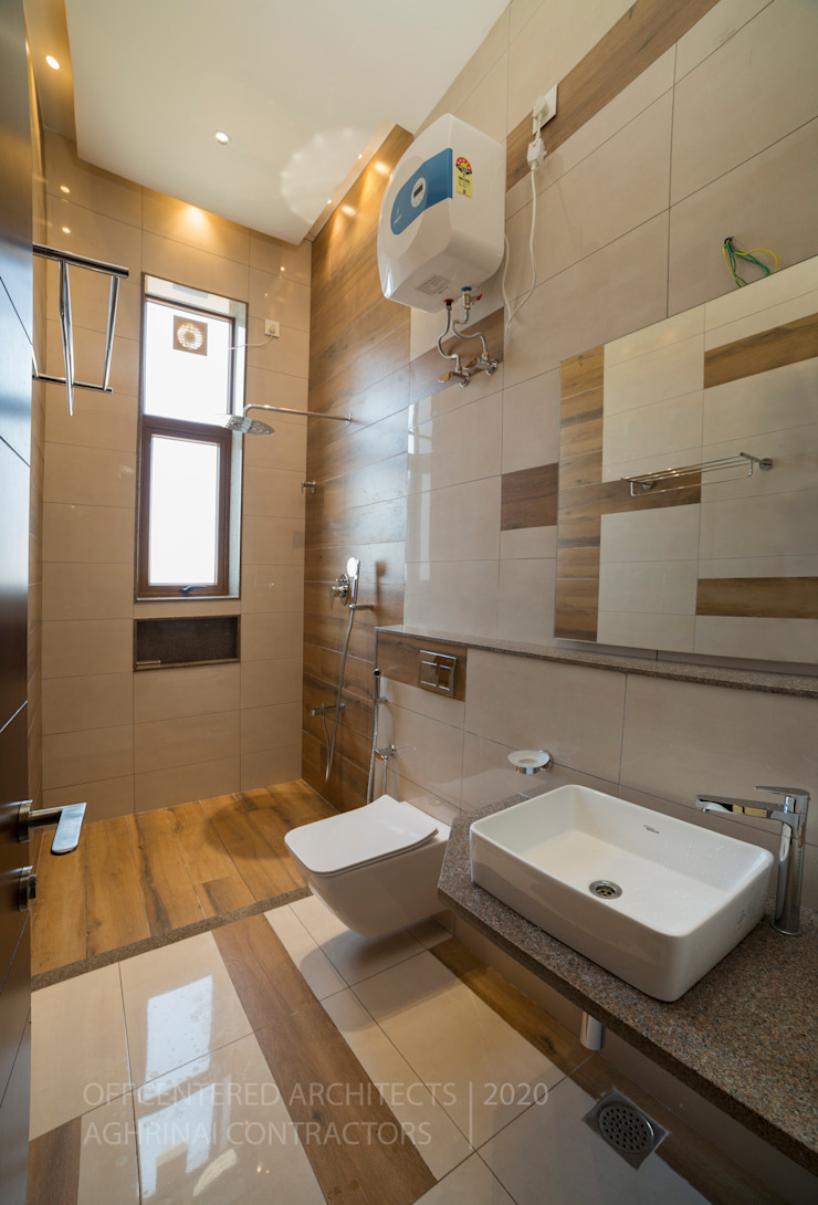 Toilet interiors Offcentered Architects Modern style bathrooms