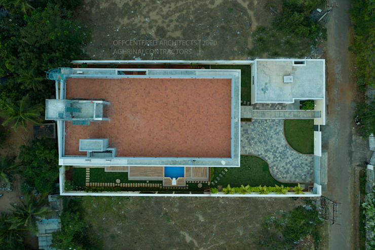 The site plan Offcentered Architects Modern houses