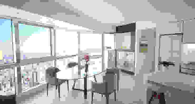 Departamento Bellini - Estar / Comedor Livings modernos: Ideas, imágenes y decoración de D4-Arquitectos Moderno Vidrio