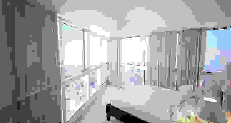 Departamento Bellini - Dormitorio Principal de D4-Arquitectos Moderno Vidrio