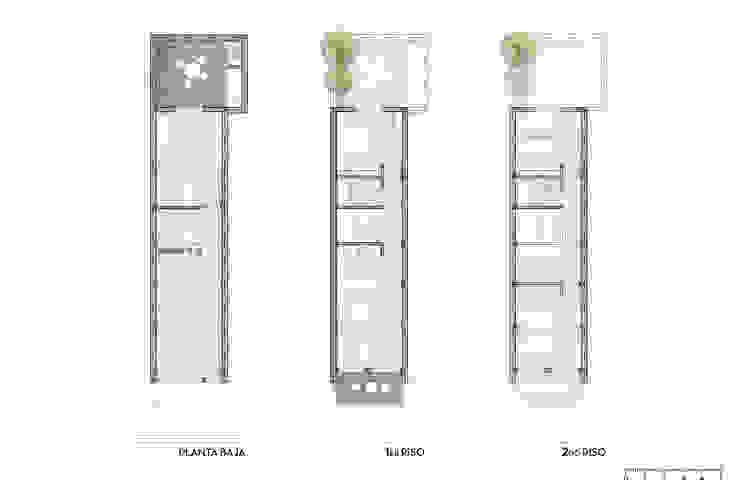 Casa Pastor - Plantas D4-Arquitectos Casas pequeñas