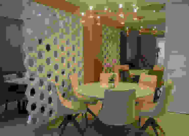Apartamento Jardins do Brasil - Osasco Tamara Ávila Designer Salas de jantar modernas