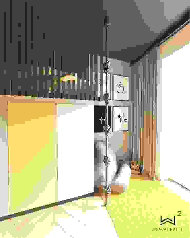 Wkwadrat Architekt Wnętrz Toruń Kamar tidur anak MDF Black