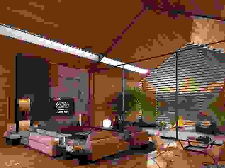 zona giorno Soggiorno moderno di Marcello Cesini Architetto Moderno Legno Effetto legno
