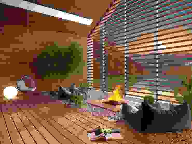 patio Giardino d'inverno moderno di Marcello Cesini Architetto Moderno Legno Effetto legno