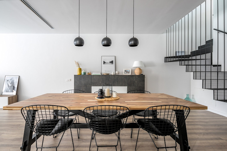 Phòng ăn phong cách hiện đại bởi 08023 Architects Hiện đại Gỗ Wood effect