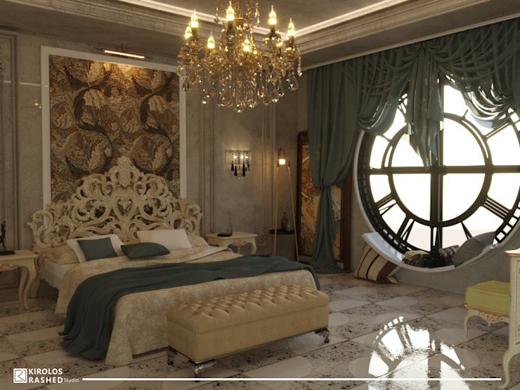 Hotel Suite Classic Luxury Design من Kirollos Rashed Studio كلاسيكي