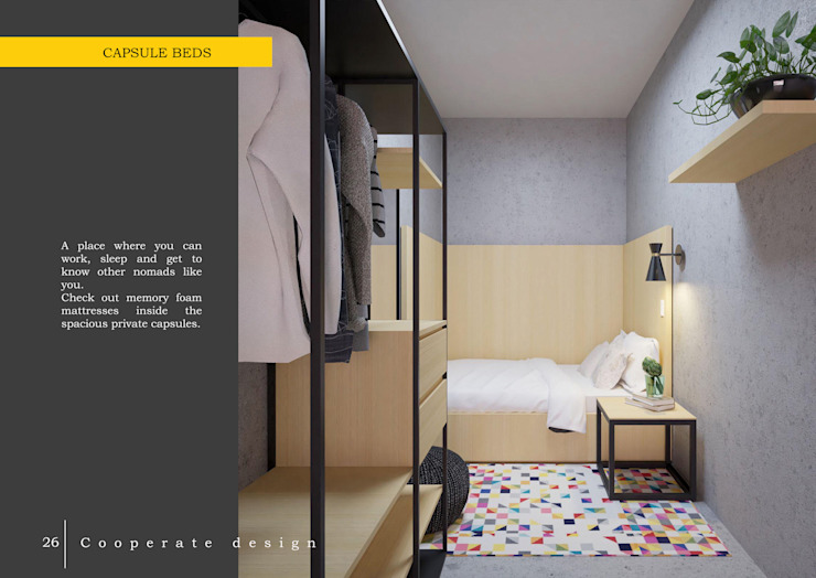 phòng ngủ đơn: hiện đại  by LAGOM STUDIO BOX, Hiện đại