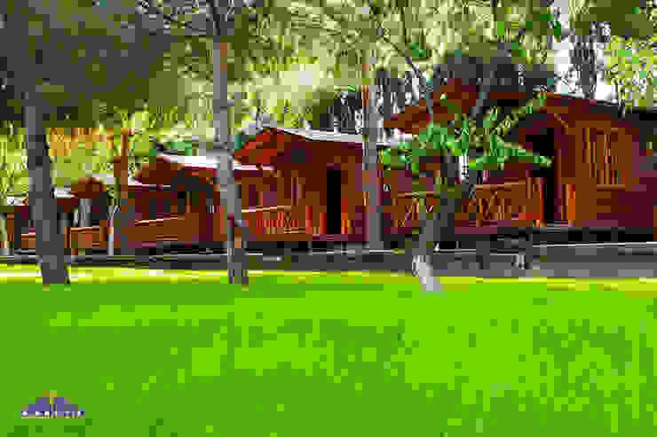 BANEVA Ahşap Yapılar Hoteles de estilo minimalista Madera Acabado en madera
