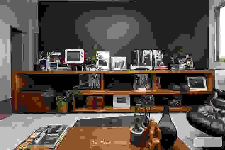 Sala de estar Fábio Frutuoso Arquitetura Salas de estar modernas Azul