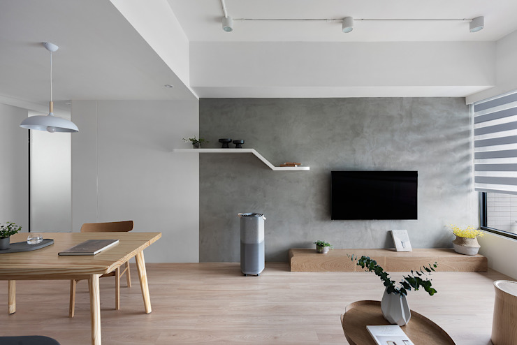 Miji Island 现代客厅設計點子、靈感 & 圖片 根據 知域設計 現代風