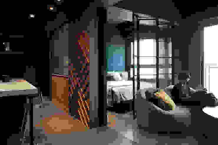 漢玥室內設計 Soggiorno moderno Effetto legno