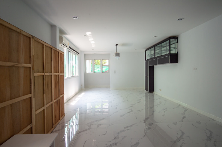รีโนเวท ทุบเชื่อมอาคาร ปรับปรุงหน้าบ้านหลังบ้าน Grit Build