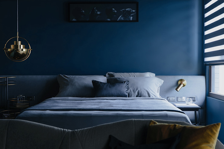 漢玥室內設計 Camera da letto moderna Grigio