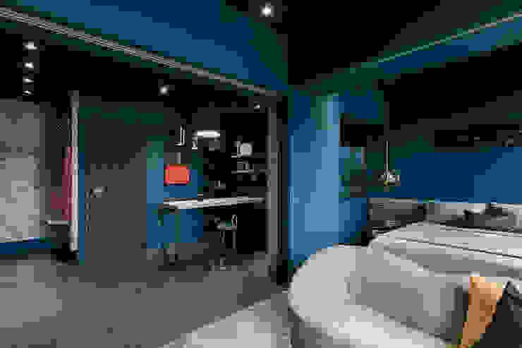 漢玥室內設計 Sala da pranzo minimalista Variopinto