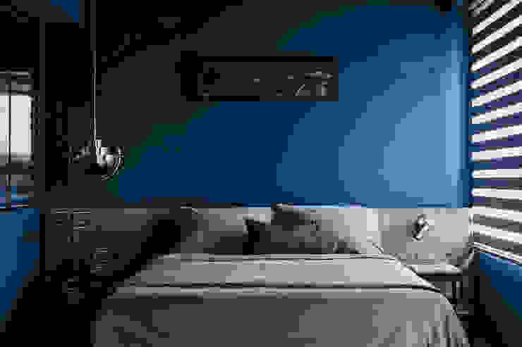 漢玥室內設計 Camera da letto minimalista Turchese
