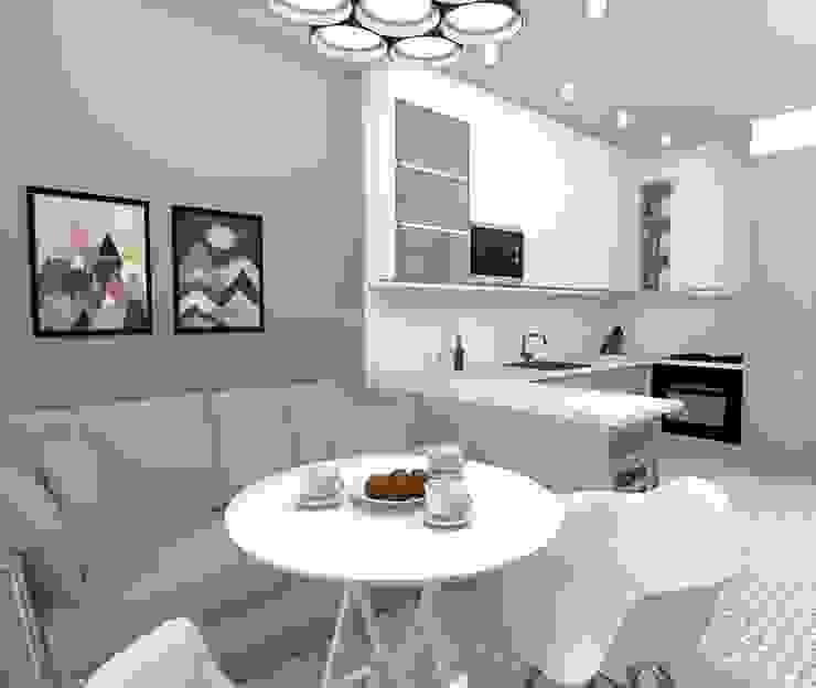 Дизайн-проект двухкомнатной квартиры Кухни в эклектичном стиле от Prosvirnina Anna Эклектичный