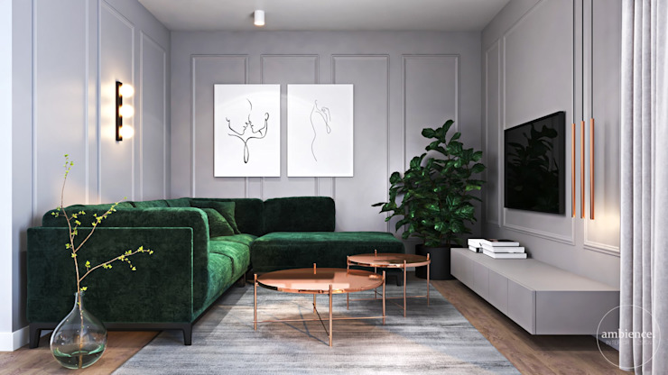 Ambience. Interior Design Eclectic style living room