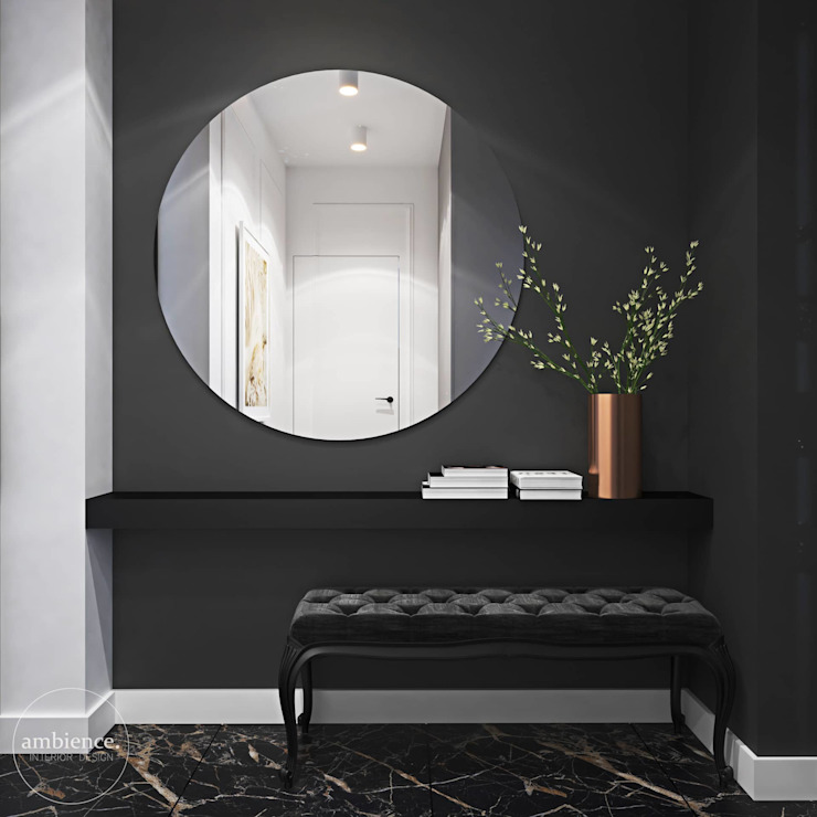 Ambience. Interior Design Eclectic style corridor, hallway & stairs